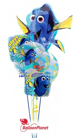 Finding Dory Birthday Balloon Bouquet <br>(5 Balloons)